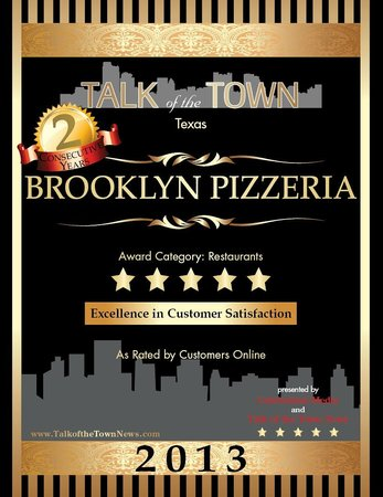 Brooklyn Pizzeria: We stand by our quality and by our customers!