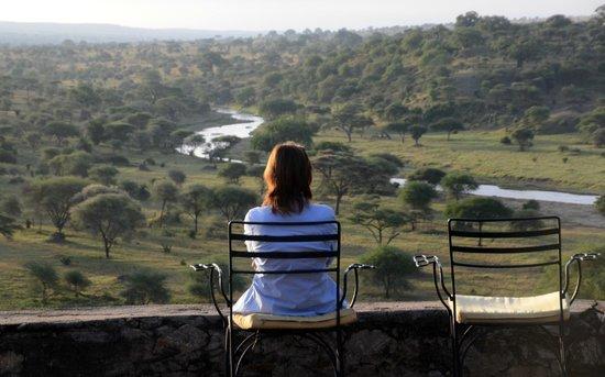 Tarangire Safari Lodge: Blick von der Terrasse