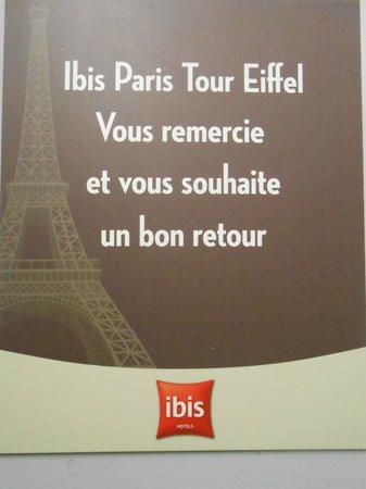 Ibis Tour Eiffel Cambronne: En partant récupérer ma voiture
