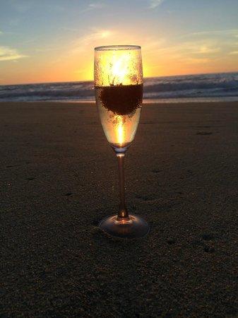 Arriba de la Roca: The beach sunset