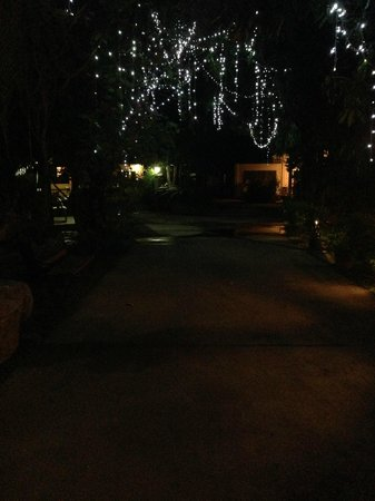 Oriental Siam Resort: At night when you walk into resort.  Hopefully you can sort of see it.