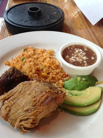 Yxta : Pork Carnitas Michoacán Style
