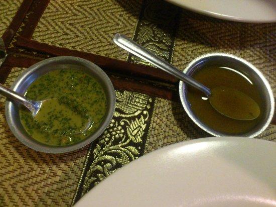 Royal India Restaurant: sauces