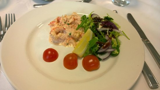 Cheadle House: Prawn & Crayfish starter (on the day)