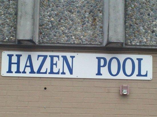Hazen Pool: Front Entrance Sign