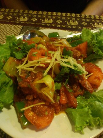Royal India Restaurant: crevettes tikka massala