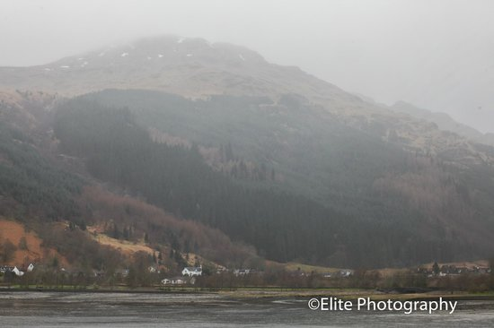 Lochside Guest House : The view from our window on Loch Lonmg at Loch Side guest house