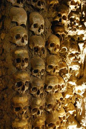 Capela dos Ossos : Détail d'une colonne