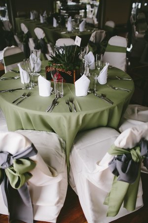 Greenville, Virginie-Occidentale : Sky Room Tables set for a wedding at Creekside Resort