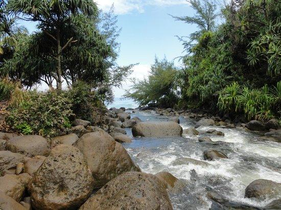Kalalau Trail: Flußüberquerung