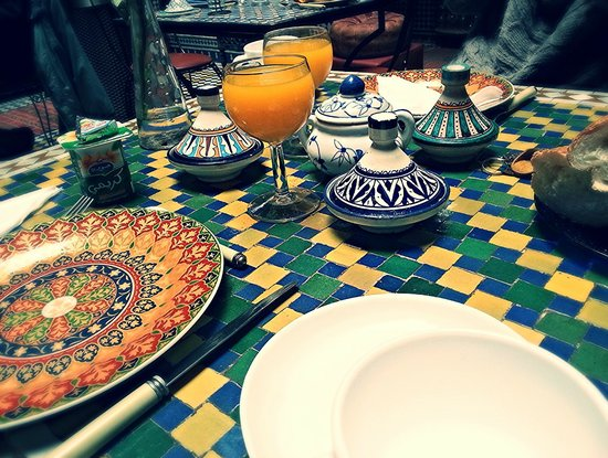 Riad l'Artiste: petit déjeuner