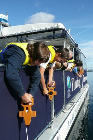 Lake George Association Floating Classroom: On board you will take part in hands-on experiments such as measuring water clarity.