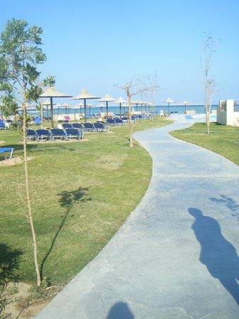 Jaz Aquamarine Resort: Walk up to beach