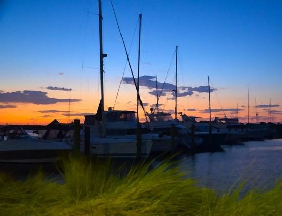 Sunluver Charters - Day Tours: sunset in the marina