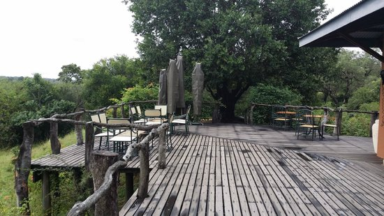MalaMala Sable Camp: eating area - lounge deck
