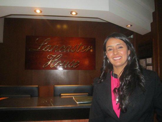 Lancaster House: En la recepcion del hotel
