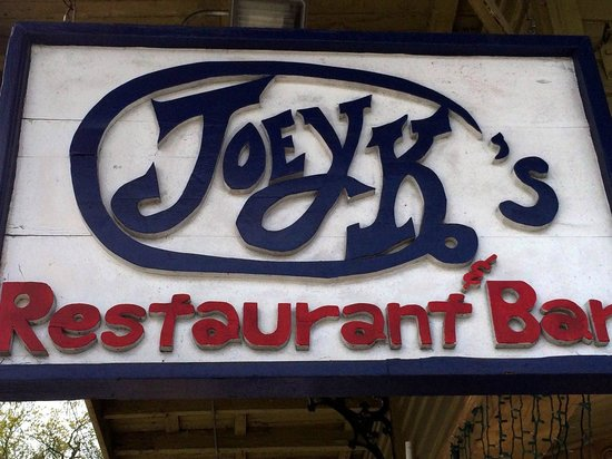 Joey K's Restaurant & Bar: Street Sign