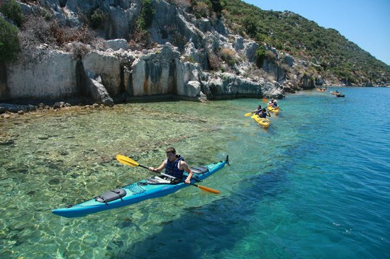 Kas, Turkey: sea kayaking by sunken city