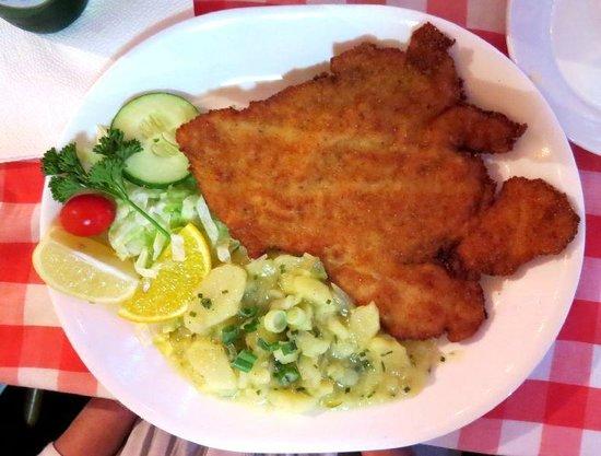 European Cafe & Schnitzel House: Bavarian Chicken Schnitzel with German Potato Salad