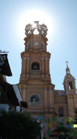 La Iglesia de Nuestra Senora de Guadalupe: The top of the church.