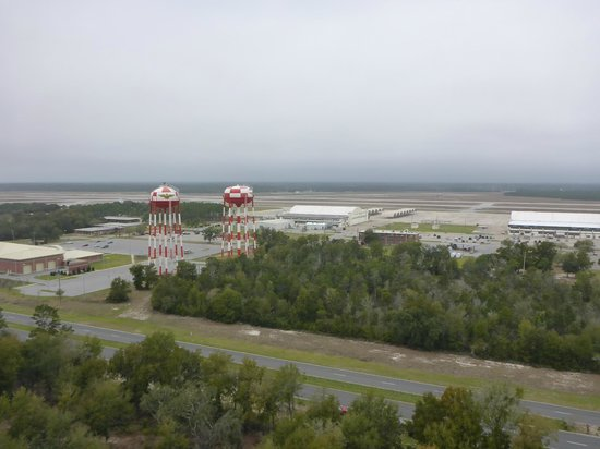 Pensacola Lighthouse and Museum: Views of ocean, museum, base and flight line.
