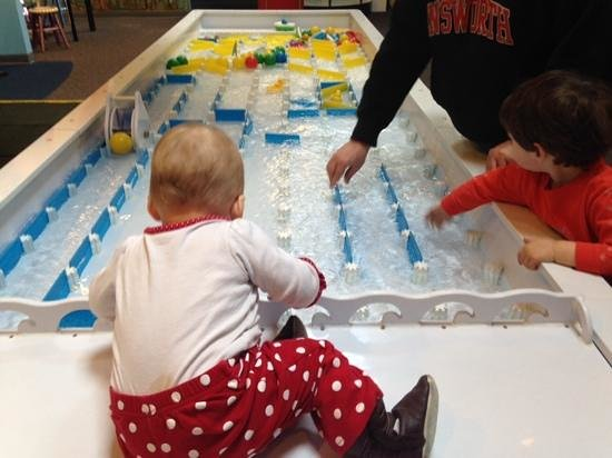 Great Lakes Children's Museum : the famous water table
