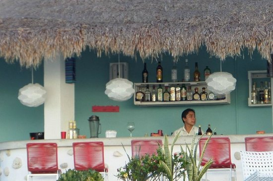 Hotel B Cozumel: pool bar, that's sweet Javier!