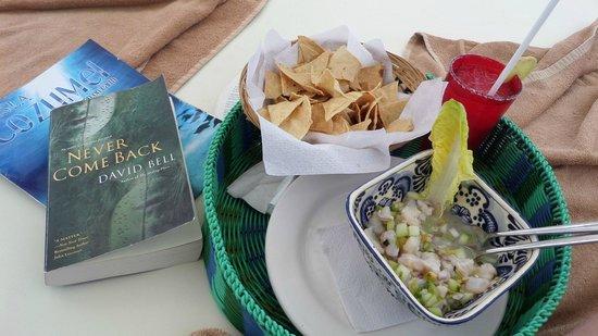 Hotel B Cozumel: yummo ceviche!!