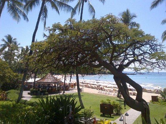 Mauna Kea Beach Hotel, Autograph Collection: Beach with beach bar to the left
