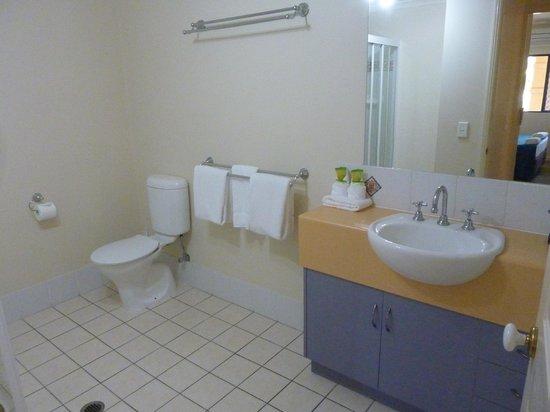 Central Plaza Apartments : Enorme banheiro