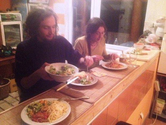 Olywood Sarajevo B&B and Campground : kitchen banch
