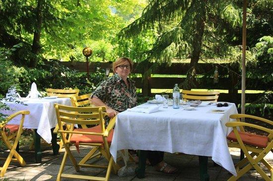 Hotel Unterwirt : tavolo  in giardino