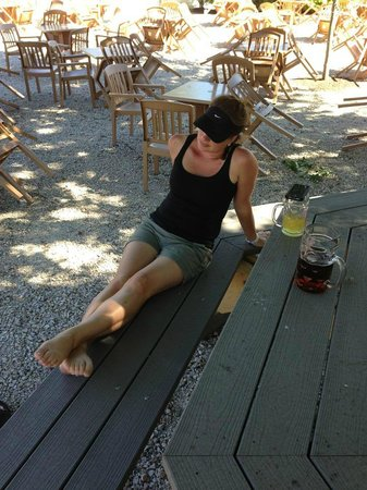 Tin Mill Brewery : Kristy in the Biergarten at Tin Mill