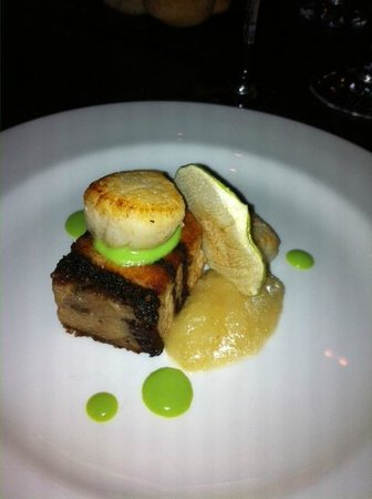 Homewood Park Hotel & Spa: Gorgeous scallop starter