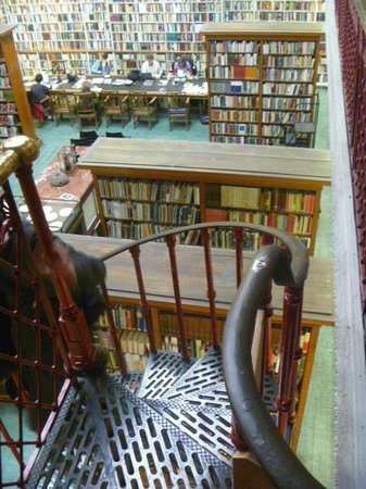 The Literary & Philosophical Society: Looking Down from Spiral Staircase