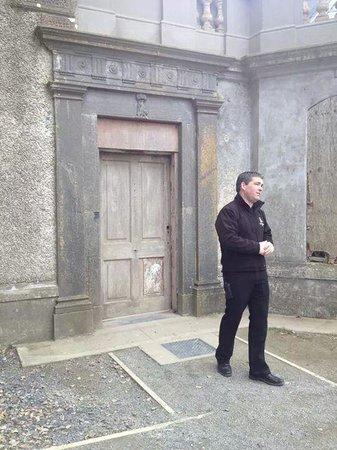 Loftus Hall: Alan in front of the original door way