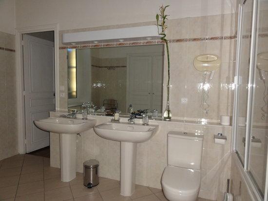 Au Manoir des Forges : Manoir des Forges: salle de bain de La Suze