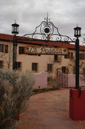 La Posada Hotel: Entrance, Route 66 side, La Posada