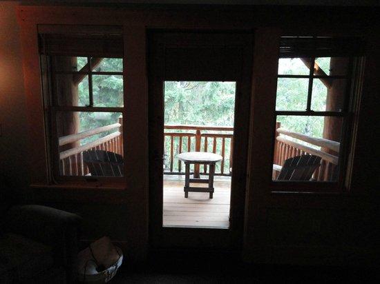 Freestone Inn: Balcony of our room