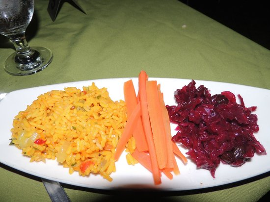 Rock Lobster : Rice and carrots - side dishes