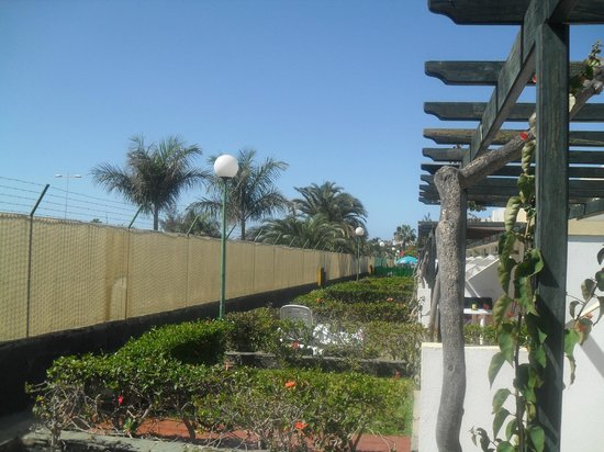 Capri Bungalows: picture from patio