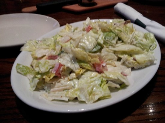 Malone's - Hamburg Place: Bottomless Lexingtonian salad (over dressed)