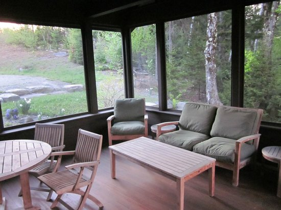Trapp Family Lodge: Screened-in porch