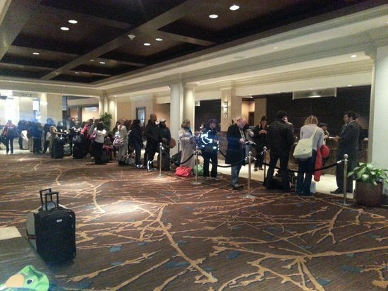 Sheraton New York Times Square Hotel : Outrageously long check-in line...