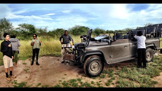 "Lion Sands River Lodge: Enjoying morning break during our game drives with our "" super talented ranger "" - Michael"