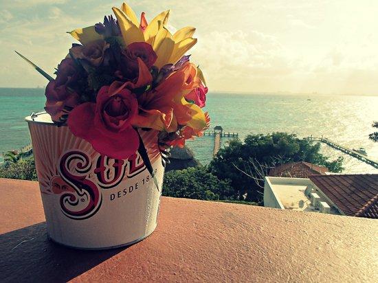 Casa de Los Sueños : wedding flowers & view from room