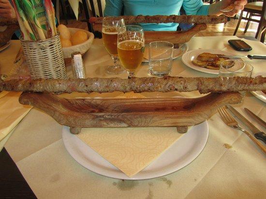 Albergo Ristorante Aurora: Lo straordinario steccone di carne