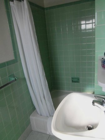 White Rose Motel: retro tile bathroom, very clean
