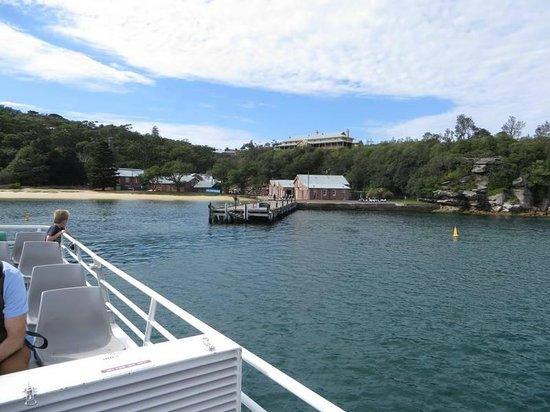 Q Station Sydney Harbour National Park Hotel: entering q station on the ferry