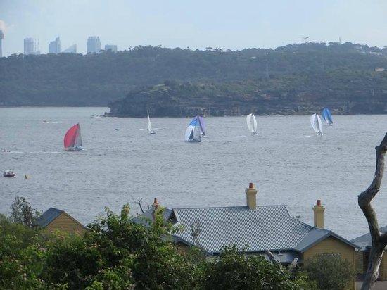 Q Station Sydney Harbour National Park Hotel: yacht race below q station